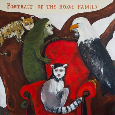 Agula Swoboda, Portrait of the Royal Family, 2010, akryl, płótno, 150 x 150 cm